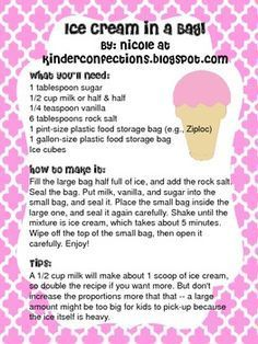 Free recipe for making ice cream in a bag includes two recipes how to make ice cream in a bag ccuart Choice Image