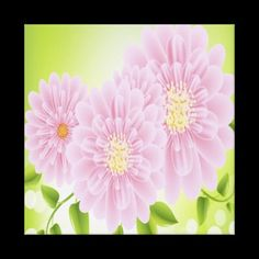 Pink Flowers Premium Wrapped Canvas (Gloss) Canvas Prints $162.35