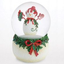 Twinkle™ Waterglobe, 100mm A lovable snowman who wears the red gloves and hat would like to celebrate this joyful Christmas with you. The base is decorated with beaded base. Plays the tune - Frosty the Snowman $85