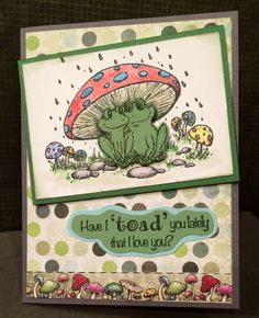 Winking Frog Collection by Heartfelt Creations. Had to make a quick first card when this new collection arrived. Cannot wait to play with more!