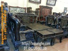 Bộ bàn ghế gỗ mun kiểu công phượng