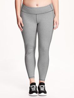 High-Rise Patterned Compression Plus-Size Leggings
