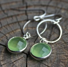 Seafoam - Faceted Chalcedony and STerling Silver by kimhunt on Etsy