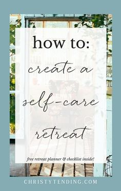 Sometimes, you just need to get away to heal, rest, and rejuvenate. Learn how to create your own self-care retreat. I'm revealing the exact process I use to create my own retreats. Plus get your free retreat planner and checklist inside! >> www.christytending.com