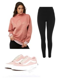 """""""Pink Casual"""" by sophiemo-1 on Polyvore featuring adidas Originals, Topshop and Vans"""