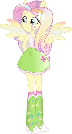 Equestria Girls: Fluttershy Rainbowfied by TheShadowStone on deviantART