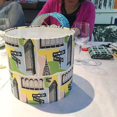 Sharing some snaps from my recent lampshade making workshop at Love Art in Tooting today. It very much seemed that a good time was had by all - and everyone came away with a fantastic looking finished lampshade - result! Custom Printed Fabric, Printing On Fabric, Toot, Lampshades, Love Art, Design Your Own, Fabric Design, Workshop, Creative