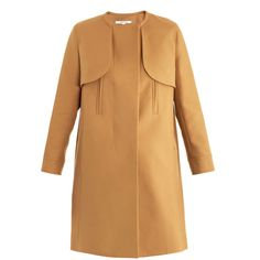 Carven Simple cotton trench coat ($825) ❤ liked on Polyvore