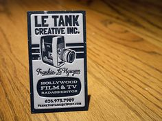 letterpress business card by MikeGalore, via Flickr