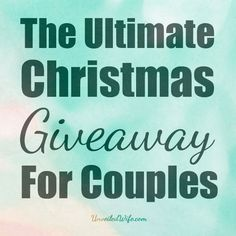 The Ultimate Christmas Giveaway For Couples  If you are interested in participating here is what you need to know:  - This giveaway begins Wednesday December 4th and ends Sunday December 15th at Midnight.  - Winners will be chosen at random and announced on the Unveiled Wife Facebook Page on Monday December 16th.  - Only one winner will be chosen per prize.  - Every winner will receive a copy of my devotional, #WifeAfterGod  enter here -> http://unveiledwife.com/ultimate-christmas-g…