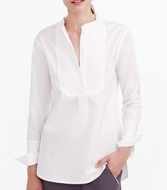A J.Crew white shirt with over-sized cuffs.