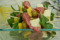"Salad on a stick, meat and cheese ""pops,"" and other fast (clean) food ideas     @Wallace Farms"