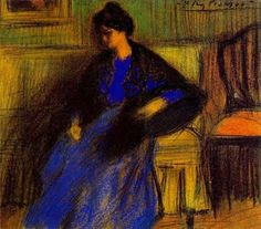 Pablo Picasso, 1899 Femme assise avec châle