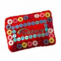 Rainbow Button Purse - Rainbow Gifts and Fun Badges Rainbows Uniform, Charity, Coin Purse, Buttons, Wallet, Purses, Fun, Gifts, Stuff To Buy