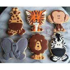 Jungle Animal Cookies for Baby Shower-Greeks-N-Sweets | Cookie Connection