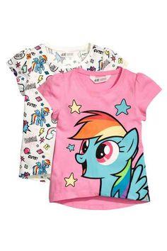 8a07dafb7c8d 2-pack jersey tops Cartoon Kids, Mlp, Jersey Tops, H&m Fashion,