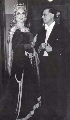 Renata Tebaldi with Karl Böhm;'Tannhauser',S.Carlo,1950