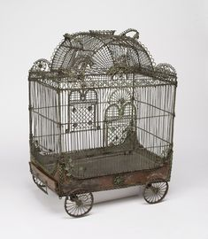 "Birdcage, ""Bird cage in the form of a circus wagon"", 18th century"