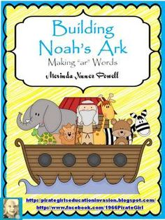 "Sail away with Noah and this FREEBIE from my new Noah's Ark Learning Centers packet. It is a making words activity that focuses on ""ar"" words. It includes a beautiful work mat along with letter tiles for word building. It also comes with a recording sheet and an answer key with possible words."