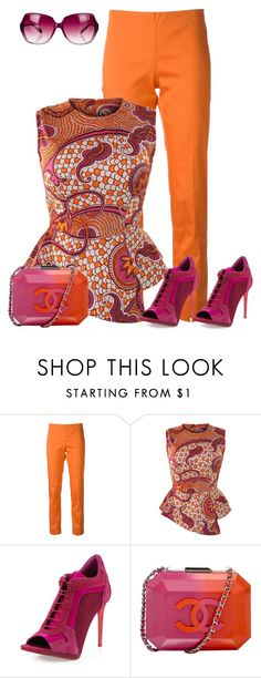 A fashion look from January 2016 featuring red top, orange pants and open toe booties. Browse and shop related looks. African Wear, African Fashion, Fashion Women, Casual Outfits, Cute Outfits, Fashion Outfits, Fashion Trends, Casual Wear, Oliver Peoples