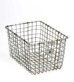 Wire Locker Basket - Brook Farm General Store