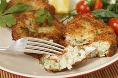 Nutritious Snack Tips For Equally Young Ones And Adults This Cod Fish Cake Recipe Is Made From Fresh Fish, And Is A Simple And Quick Meal To Make. It Is Very Nice Served With Rice Or Mashed Potatoes. Cod Fish Cakes Recipe From Grandmothers Kitchen. Cod Fish Recipes, Seafood Recipes, Wine Recipes, Cooking Recipes, Fresh Fish Recipes, Fresh Recipe, Cod Fish Cakes, Cod Cakes, Easy Fish Cakes