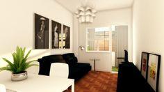 3D estudo Layout Sala