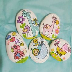 Beautiful & Unique Rock Painting Ideas , Let's Make Your Own Creativity Seashell Painting, Pebble Painting, Pebble Art, Stone Painting, Rock Painting, Stone Crafts, Rock Crafts, Rock Baby Showers, Hobbies And Crafts
