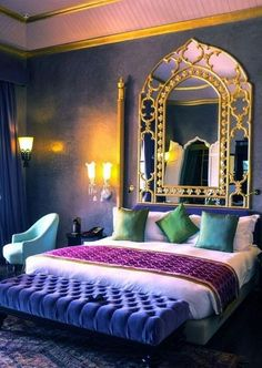 35 Latest Moroccan Bedroom Design Ideas With Modern Patterns To Have - The bedroom is your private space in the house and it is the place to relax. Unfortunately, most people use the bedroom to just sleep. A bedroom if pr. Home Bedroom, Bedroom Design, House Design, Bedroom Decor, Interior Design, Home Decor, House Interior, Room Decor, Moroccan Decor Bedroom