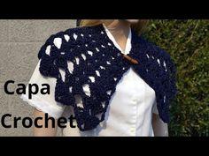 Como tejer una Capa punto abanico en tejido crochet tutorial paso al paso. - YouTube