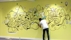20 incredibly cool design office murals