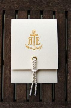 monogram/rope tie