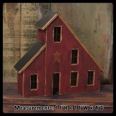 Lighted Country Houses and Primitive Saltbox Houses - Salt Box - Ideas of Salt Box Primitive Homes, Primitive Crafts, Country Primitive, Primitive Antiques, Primitive Christmas, Saltbox Houses, Bird Houses, Wooden Houses, Prim Decor