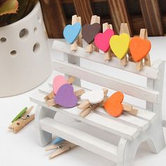 Mini Wooden Clothespin Heart Love Craft Clips Clothes Photo Paper Peg Pin for sale online Cute Love Heart, Wedding Giveaways, Love Craft, Clothes Line, Diy Wedding, Embellishments, Projects To Try, Arts And Crafts, Paper