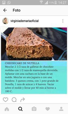 Cheesscake de nutella de Virginia de María