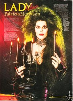 Patricia Morrison (member of The Gun Club , Sisters of Mercy, TheSisterhood, and The Damned ect. Goth Bands, Vintage Goth, Punk Rock, Patricia Morrison, Dark Wave, 80s Goth, Goth Subculture, Goth Music, Street Goth