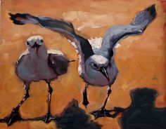 Under Wing, painting by artist Rick Nilson