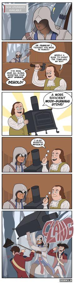 If Ben Franklin ended up being Connor's Leonardo...