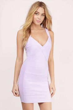 Lavender Dresses, Tobi, Lavender Secret Admirer Bodycon Dress