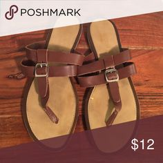 Leather flip flop Slightly worn leather with buckle flip flop Romano Palai Shoes Sandals