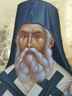 Saint Nectarios of Aegina Byzantine Icons, Byzantine Art, Religious Icons, Religious Art, Best Icons, Orthodox Christianity, Art Icon, High Art, Orthodox Icons