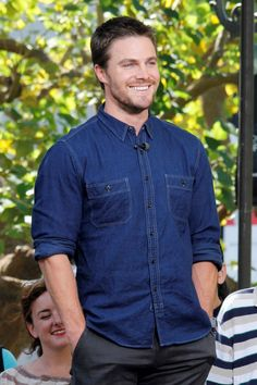 Stephen Amell - I wonder what he is having Fun doing!! A little insight might be nice... Stephen you are GORGEOUS!!