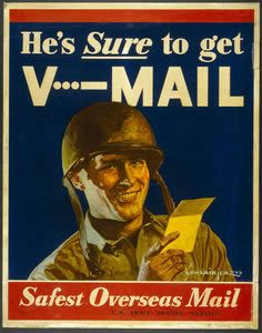 Vmail, or Victory Mail, was sent for the first time on June 22, 1942. One roll of film contained 1500 letters to military service members in WWII.