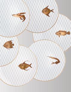 Service de table porcelaine de Limoges : assiettes porcelaine blanche, porcelaine peinte
