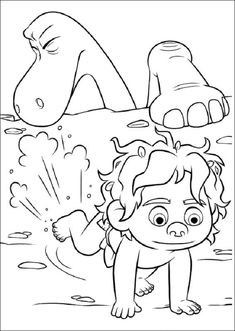 The Good Dinosaur Online Coloring Pages Printable Book For Kids 1
