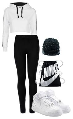 """""""Untitled #112"""" by parrissss on Polyvore featuring Topshop, Wolford and NIKE"""