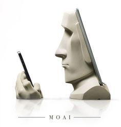 The Moai iPad docking station by Scott Eaton #iPad #Dock #Moai