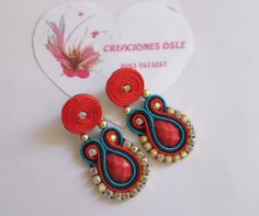 Soutache Jewelry, Drop Earrings, Christmas Ornaments, Holiday Decor, Bookmarks, Manhattan, Bracelets, Ideas, Templates