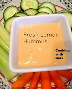 Vegan Kids Recipes : Lemon Hummus