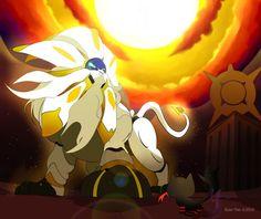 Everything the Light Touches.... (Pokemon Sun) by sozo-teki.deviantart.com on @DeviantArt (Litten and Solgaleo)